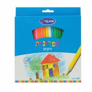 24 עפרונות צבעוניים דקים-0