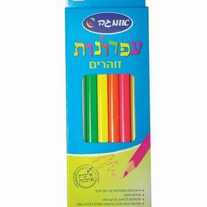 6 עפרונות זוהרים משולשים עבים-0