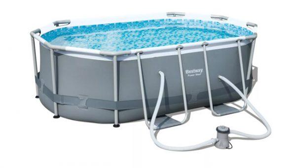 בריכת מים ביתית בצורת אליפסה-0