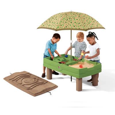 שולחן פעילות חול ומים חום ירוק step2