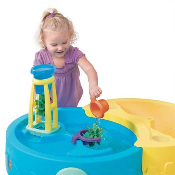 שולחן חול ומים עגול + אביזרים step2