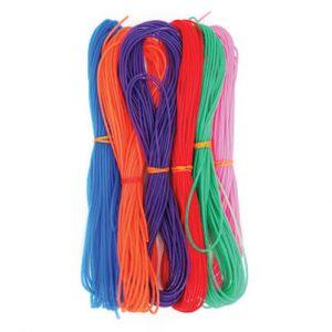 חוט ניילון חלול צבעוני 6 גוונים